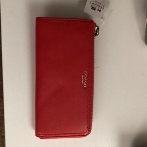 Beautiful red coach wallet